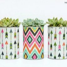 Decoupage Tin Can Planters 6 214x214 - Amazing ideas to Decoupage Tin Can Planters