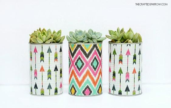 Decoupage Tin Can Planters 6 - Amazing Ideas To Decoupage Tin Can Planters