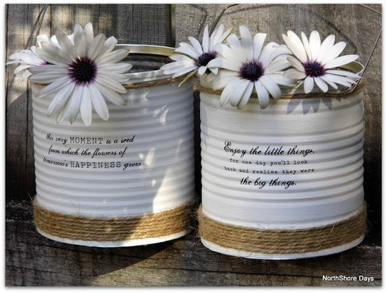 Decoupage Tin Can Planters 9 - Amazing Ideas To Decoupage Tin Can Planters