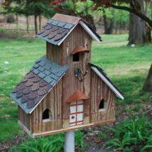 Diy Bird Houses 12 214x214 - 45+ Charming DIY Bird House Ideas For Your Backyard