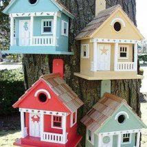 Diy Bird Houses 17 214x214 - 45+ Charming DIY Bird House Ideas For Your Backyard