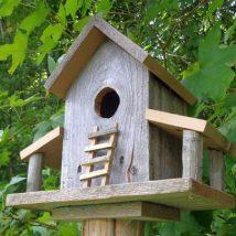 Diy Bird Houses 26 214x214 - 45+ Charming DIY Bird House Ideas For Your Backyard