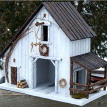 Diy Bird Houses 40 214x214 - 45+ Charming DIY Bird House Ideas For Your Backyard