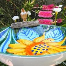 Diy Birdbath Projects 12 214x214 - 40+ DIY Bird bath Projects Ideas
