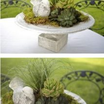 Diy Birdbath Projects 32 214x214 - 40+ DIY Bird bath Projects Ideas