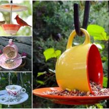 Diy Birdbath Projects 34 214x214 - 40+ DIY Bird bath Projects Ideas