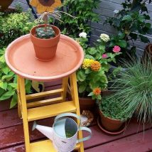 Diy Birdbath Projects 46 214x214 - 40+ DIY Bird bath Projects Ideas