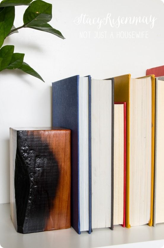 Diy Bookend Ideas 14 - 35+ Cool DIY Bookend Ideas