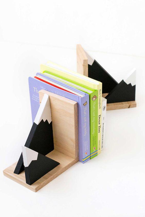 Diy Bookend Ideas 15 - 35+ Cool DIY Bookend Ideas