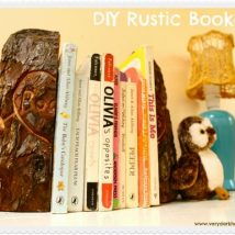 Diy Bookend Ideas 19 214x214 - 35+ Cool DIY Bookend Ideas