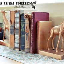 Diy Bookend Ideas 43 214x214 - 35+ Cool DIY Bookend Ideas