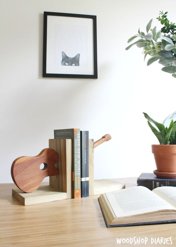 Diy Bookend Ideas 5 - 35+ Cool DIY Bookend Ideas