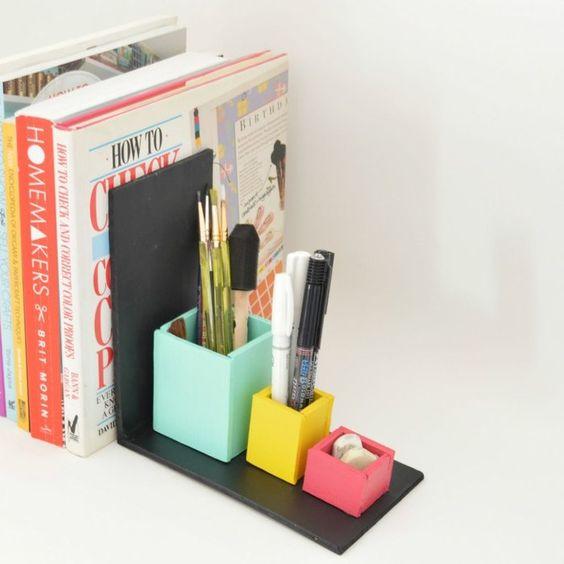 Diy Bookend Ideas 51 - 35+ Cool DIY Bookend Ideas