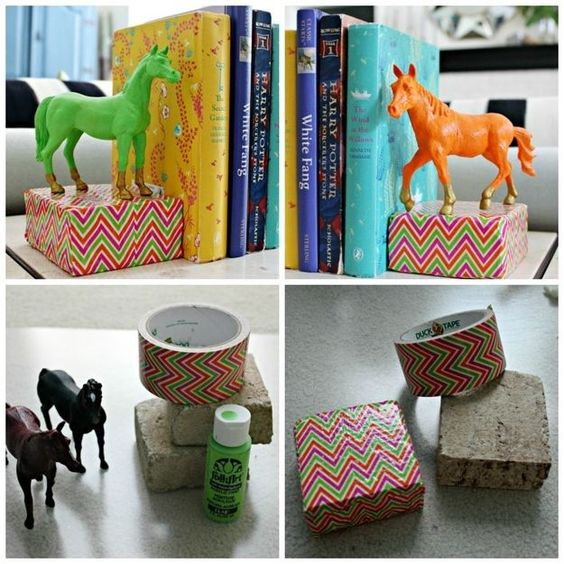 Diy Bookend Ideas 9 - 35+ Cool DIY Bookend Ideas