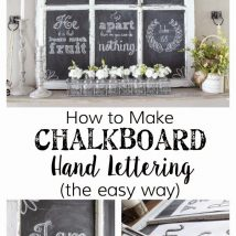 Diy Chalkboards 4 214x214 - 40+ DIY Chalkboard Ideas For Decor
