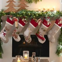 Diy Christmas Stockings 10 214x214 - Perfect DIY Christmas Stockings Ideas