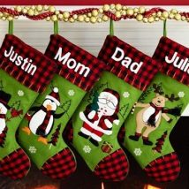 Diy Christmas Stockings 11 214x214 - Perfect DIY Christmas Stockings Ideas