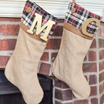 Diy Christmas Stockings 2 214x214 - Perfect DIY Christmas Stockings Ideas