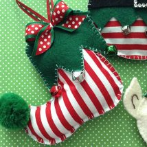 Diy Christmas Stockings 21 214x214 - Perfect DIY Christmas Stockings Ideas