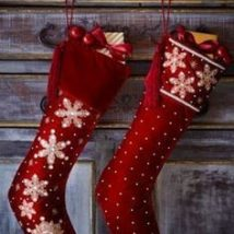 Diy Christmas Stockings 30 214x214 - Perfect DIY Christmas Stockings Ideas