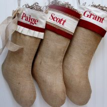 Diy Christmas Stockings 4 214x214 - Perfect DIY Christmas Stockings Ideas