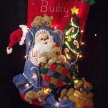 Diy Christmas Stockings 41 214x214 - Perfect DIY Christmas Stockings Ideas