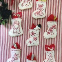 Diy Christmas Stockings 47 214x214 - Perfect DIY Christmas Stockings Ideas