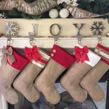 Diy Christmas Stockings 6 214x214 - Perfect DIY Christmas Stockings Ideas
