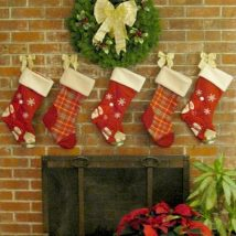 Diy Christmas Stockings 62 214x214 - Perfect DIY Christmas Stockings Ideas