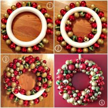 Diy Christmas Wreaths 1 214x214 - 39+ Of The Best DIY Christmas Wreath Ideas