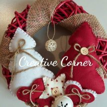 Diy Christmas Wreaths 31 214x214 - 39+ Of The Best DIY Christmas Wreath Ideas