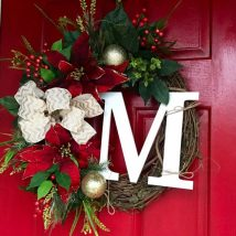 Diy Christmas Wreaths 41 214x214 - 39+ Of The Best DIY Christmas Wreath Ideas