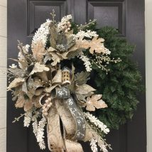 Diy Christmas Wreaths 5 214x214 - 39+ Of The Best DIY Christmas Wreath Ideas