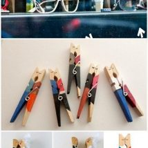 Diy Clothspin Projects 34 214x214 - 45+ Crazy DIY Clothespin Projects for Reuse