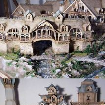 Diy Doll Houses 41 214x214 - 35+ DIY Miniature Doll Houses