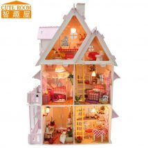 Diy Doll Houses 46 214x214 - 35+ DIY Miniature Doll Houses