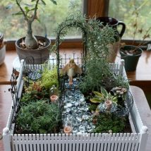 Diy Fairy Gardens 6 214x214 - 50 Magical DIY Fairy Garden Ideas