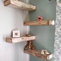 Diy Farmhouse Shelves 2 214x214 - Spectacular DIY Farmhouse Shelves
