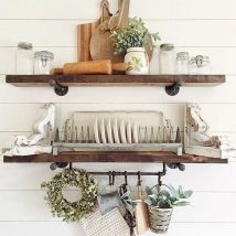 Diy Farmhouse Shelves 31 214x214 - Spectacular DIY Farmhouse Shelves
