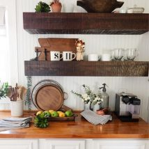 Diy Farmhouse Shelves 32 214x214 - Spectacular DIY Farmhouse Shelves