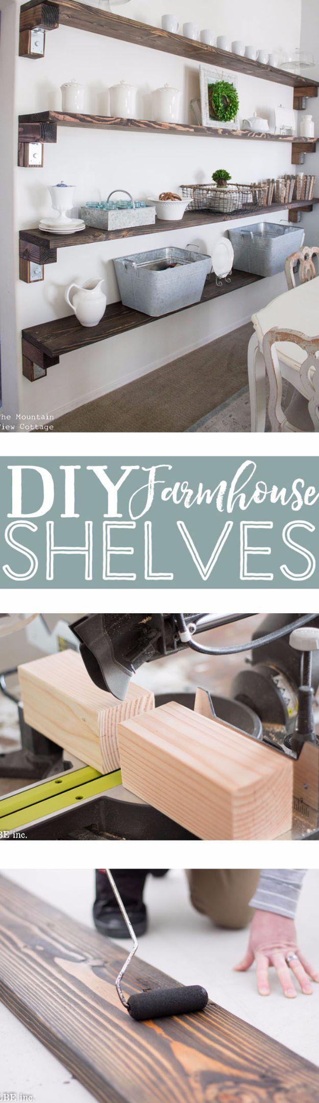 Diy Farmhouse Shelves 5 - Spectacular DIY Farmhouse Shelves