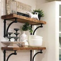 Diy Farmhouse Shelves 8 214x214 - Spectacular DIY Farmhouse Shelves