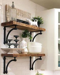 Diy Farmhouse Shelves 8 - Spectacular DIY Farmhouse Shelves