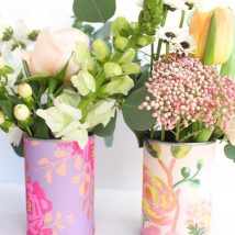 Diy Flower Vases 53 214x214 - 40+ DIY Flower Vases As Pretty As The Flowers Themselves