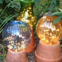 Diy Garden Globes 21 214x214 - 44+ Super Interesting DIY Garden Globes Ideas