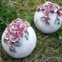 Diy Garden Globes 38 214x214 - 44+ Super Interesting DIY Garden Globes Ideas