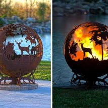 Diy Garden Globes 51 214x214 - 44+ Super Interesting DIY Garden Globes Ideas