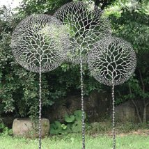Diy Garden Globes 53 214x214 - 44+ Super Interesting DIY Garden Globes Ideas
