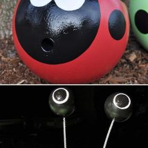 Diy Garden Globes 8 214x214 - 44+ Super Interesting DIY Garden Globes Ideas
