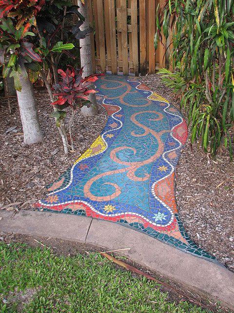 Diy Garden Mosaics Projects 52 - 40+ Unforeseen DIY Garden Mosaics Projects